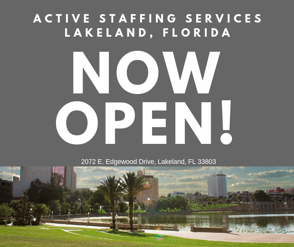 Active Staffing Opens New Office In Lakeland, FL